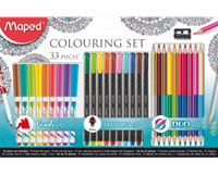 Viltstift  colouring set 33delig assorti