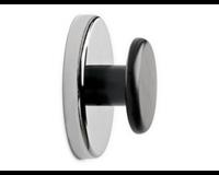 maul Magneet met knop  65mm trekkracht 12kg chroom/zwart
