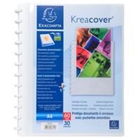 Exacompta showalbum Kreacover met ringen, voor ft A4, 30 uitneembare tassen, wit