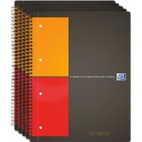 Oxford International Notebook, 80 g/m², 80 vel, 5 stuks