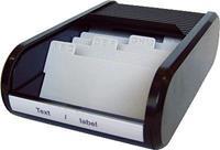 Helit visitekaartbakje, voor circa. 300 kaarten zwart