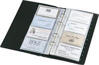 Sigel SI-VZ204 Visitekaartringband Torino Leer Zwart 90x58mm 160 Kaartjes