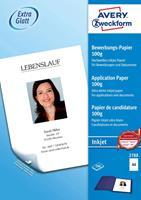 Avery Zweckform Avery-Zweckform Inkjet-sollicitatiepapier Inkjet printpapier DIN A4 100 g/m² 200 vellen Wit
