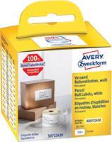 Avery-Zweckform Etiketten (rol) 101 x 54 mm Papier Wit 220 stuks Permanent AS0722430 Verzendetiketten