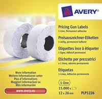 Avery Zweckform prijstangetiketten  permanent 26x12mm wit 10 rol in doos