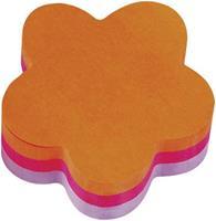 3M Kubus Notes Bloem-vorm. violet. fuchsia en geel (blok 225 vel)