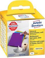 Avery Zweckform Avery-Zweckform Etiketten (rol) 57 x 32 mm Papier Wit 500 stuks Weer verwijderbaar ASS0722540 Universele etiketten