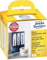 Avery Zweckform Avery-Zweckform Etiketten (rol) 190 x 38 mm Papier Wit 110 stuks Permanent AS0722470 Ordneretiketten