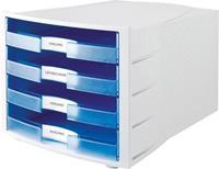 Han opbergbox Impuls A4 open blauw