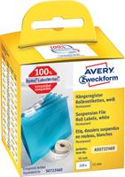 Avery Zweckform Avery-Zweckform Etiketten (rol) 50 x 12 mm Papier Wit 220 stuks Permanent AS0722460 Hangmapetiketten
