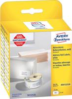 Avery-Zweckform Etiketten (rol) 54 x 25 mm Papier Wit 1 stuks Permanent AS0722520 Adresetiketten