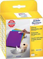 Avery Zweckform Avery-Zweckform Etiketten (rol) 19 x 51 mm Papier Wit 500 stuks Weer verwijderbaar AS0722550 Universele etiketten