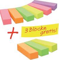 3M Plakindex 670-6+3 15 mm x 50 mm Neon-pink, Neon-groen, Neon-geel, Neon-oranje, Violet 900 vellen