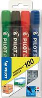 Viltstift  SCA-100-B rond 1mm assorti blister à 4 stuks
