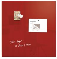 SI-GL202 Glasmagneetbord XL Artverum 1000x1000x18mm Rood