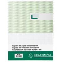 Exacompta Register 29,7x21cm geruit 5x5 - genummerd - 300 blad (413E)
