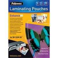 Fellowes® Lamineerhoesjes, geperforeerd, A4, pak van 100 stuks