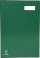 Exacompta handtekenmap voor ft 24 x 35 cm, uit karton overdekt met pvc, 20 indelingen, groen