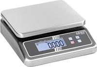 Kern Tafelweegschaal Weegbereik (max.) 7.500 kg Resolutie 0.5 g, 1 g werkt op batterijen, werkt op stekkernetvoeding Meedere kleuren Kalibratie mogelijk DAkkS