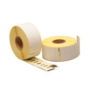 Seiko SLP-2RL compatible labels, 89mm x 28mm, 130 etiketten, blanco