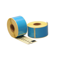 Dymo 99012 compatible labels, 89mm x 36mm, 260 etiketten, blauw