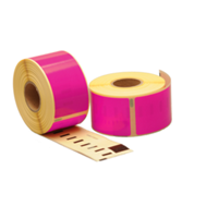 Dymo 99012 compatible labels, 89mm x 36mm, 260 etiketten, roze