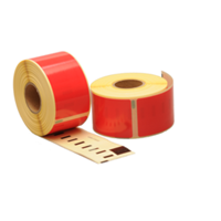Dymo 99012 compatible labels, 89mm x 36mm, 260 etiketten, rood