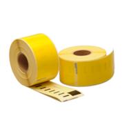 Dymo 99012 compatible labels, 89mm x 36mm, 260 etiketten, geel