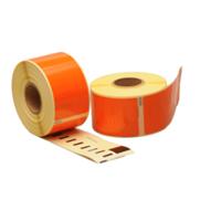 Seiko SLP-2RLE compatible labels, 89mm x 36mm, 260 etiketten, oranje