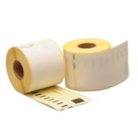 Dymo 99014 compatible labels, verwijderbaar, 101mm x 54mm, 220 etiketten, blanco