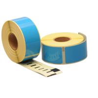 Dymo 99010 compatible labels, 89mm x 28mm, 260 etiketten, blauw