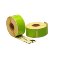 Dymo 99010 compatible labels, 89mm x 28mm, 260 etiketten, groen