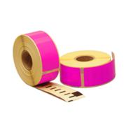 Dymo 99010 compatible labels, 89mm x 28mm, 260 etiketten, roze