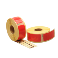 Dymo 99010 compatible labels, 89mm x 28mm, 260 etiketten, rood