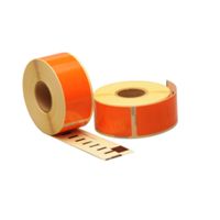 Dymo 99010 compatible labels, 89mm x 28mm, 260 etiketten, oranje