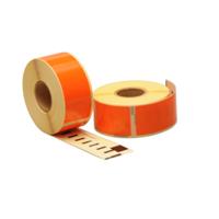 Dymo 99010 compatible labels, 89mm x 28mm, 260 etiketten, oranje