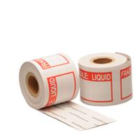 Fragile liquid label, 76,2mm x 50,8mm, 200 etiketten, permanent