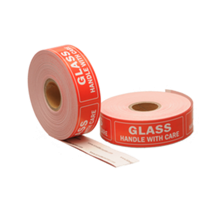 Glass label, 76,2mm x 25,4mm, 500 etiketten, permanent
