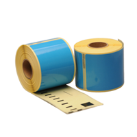 Dymo 99014 compatible labels, 101mm x 54mm, 220 etiketten, blauw