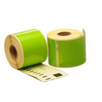 Dymo 99014 compatible labels, 101mm x 54mm, 220 etiketten, groen