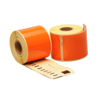 Dymo 99014 compatible labels, 101mm x 54mm, 220 etiketten, oranje