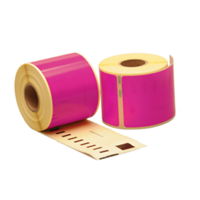 Dymo 99014 compatible labels, 101mm x 54mm, 220 etiketten, roze
