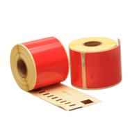 Dymo 99014 compatible labels, 101mm x 54mm, 220 etiketten, rood