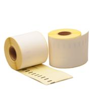 Dymo 99019 compatible labels, verwijderbaar, 190mm x 59mm, 110 etiketten, blanco