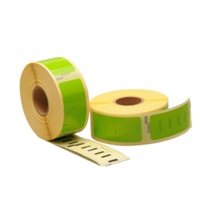 Dymo 11352 compatible labels, 54mm x 25mm, 500 etiketten, groen