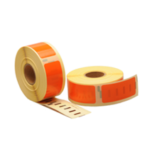 Dymo 11352 compatible labels, 54mm x 25mm, 500 etiketten, oranje