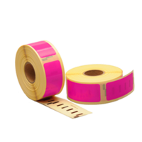 Dymo 11352 compatible labels, 54mm x 25mm, 500 etiketten, roze