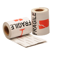 Fragile label, 76,2mm x 101,6mm, 100 etiketten, permanent