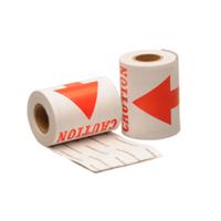 Caution label, 76,2mm x 127mm, 100 etiketten, permanent