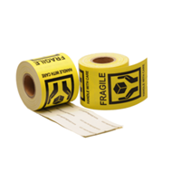 Handle with care label, 50,8mm x 76,2mm, 200 etiketten, permanent